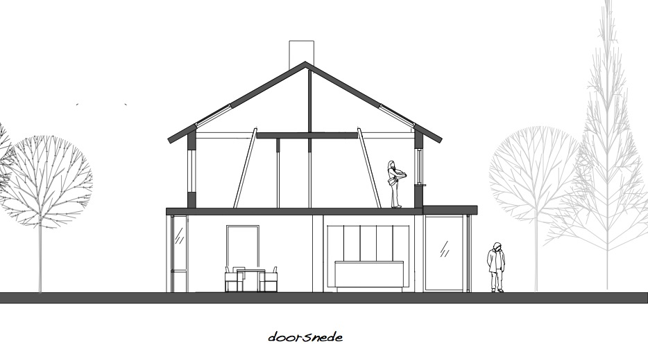 Doorsnede Renovatie Jaren 60 Woning Dingemans Architectuur