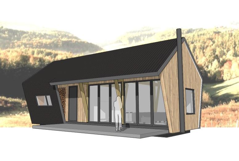 Penta prefab een compact en betaalbare vakantiewoning voor 4 tot 6 personen dingemans - Scheiding houten ...