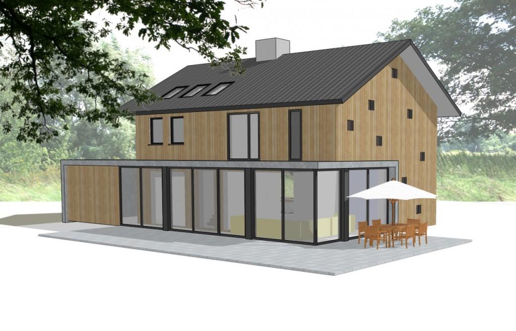 Ontwerp voor renovatie en uitbreiding van vrijstaande woning in ...