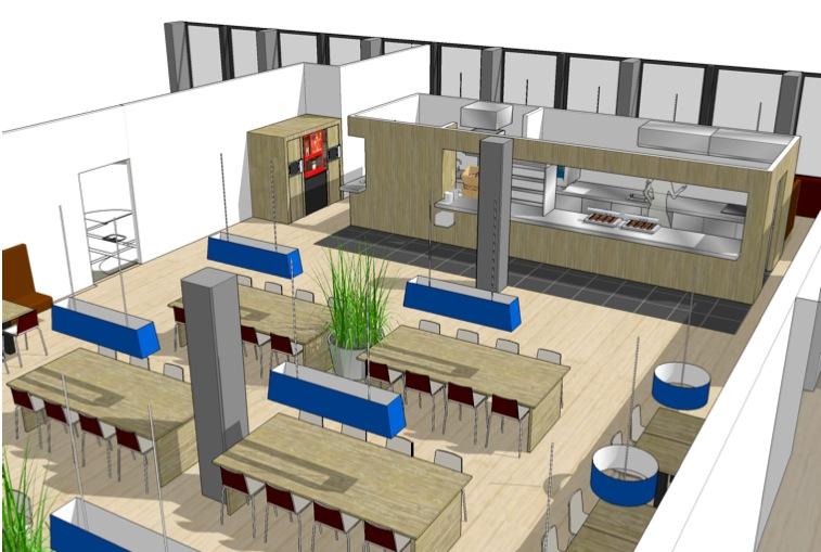 Restaurant Keuken Ontwerpen : Bedrijfsrestaurant en industriële keuken voor Abbott