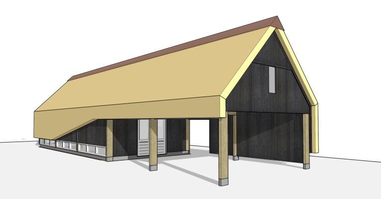 Carport wijnkelder guesthouse en atelier in split level dingemans architectuur horeca - Moderne wijnkelder ...