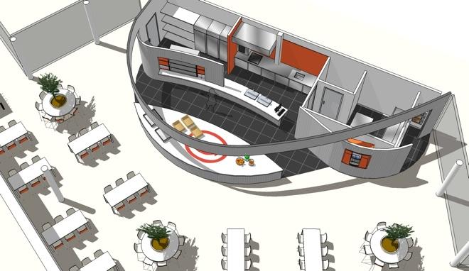 Restaurant Keuken Ontwerpen : Bedrijfsrestaurant en Keuken voor Laser Den Bosch