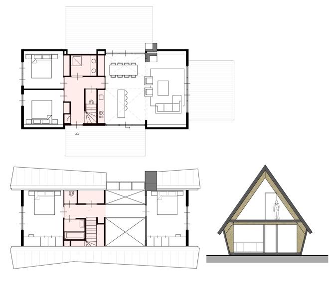 Prefab gezinswoning of recreatiewoning dingemans architectuur horeca bedrijfsrestaurants - Bungalow ontwerp hout ...