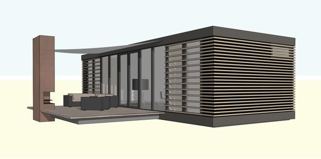 Compacte panorama prefab 4 persoons recreatiewoning for Vakantiehuis bouwen