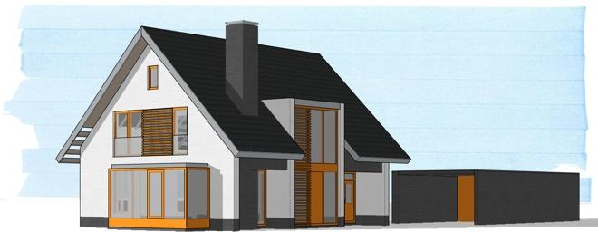 Moderne landelijk gelegen woning te berlicum dingemans for Ontwerp eigen huis