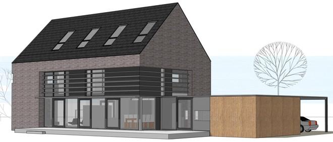 Woning aan het molenpark te vlijmen dingemans architectuur horeca bedrijfsrestaurants - Moderne huis gevel ...
