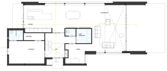 architect plattegrond woning buitengebied