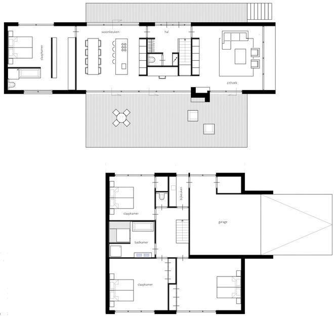 Gezinswoning met half verdiept souterrain dingemans for Plattegrond woning indeling