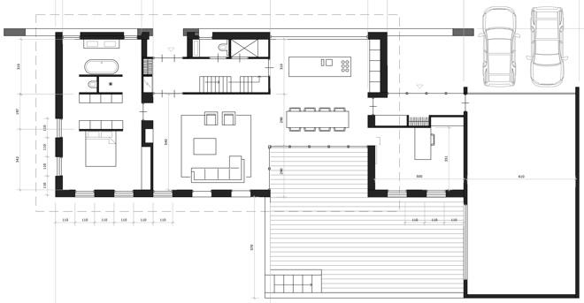 Villa in het buitengebied bij diessen dingemans for Plattegrond woning indeling
