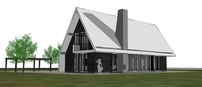 Houten post beam villa met bijgebouw op texel dingemans architectuur - Meer mooie houten huizen ...